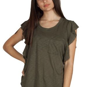 NWT Free People So Easy Tee in Army